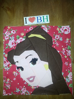 belle from beauty and the beast paper peiced :)