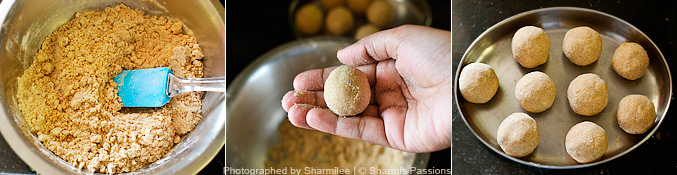 How to make atta ladoo - Step4