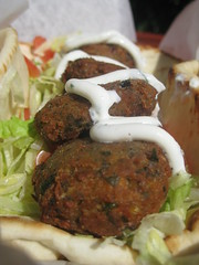 meal, vegetable, fried food, crab cake, vegetarian food, food, dish, cuisine, falafel,
