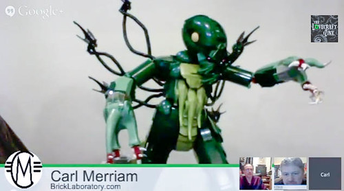 LEGO Cthulhu MKII on The Lovecraft eZine  Video Chat by Carlmerriam