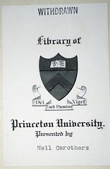 Carothers 1916 Princeton thesis pub 1930_princeton bookplate