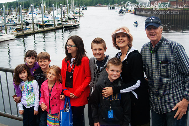Mamah and Grandpa and the grandchildren in Ketchikan