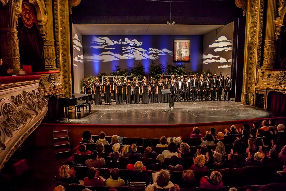 Georgia State University Singers performs at the Florilege Vocal de Tours in France