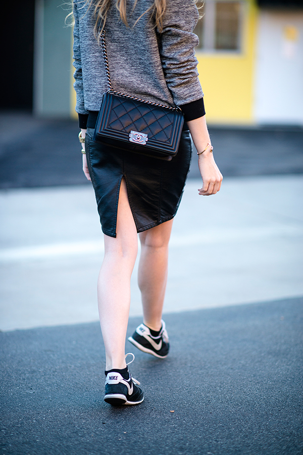 eatsleepwear, outfit, rebecca-taylor, guess, nike, detail