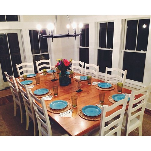 A beautiful table setting by our houseboy.
