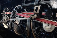 Close up of engine wheels at Hualamphong