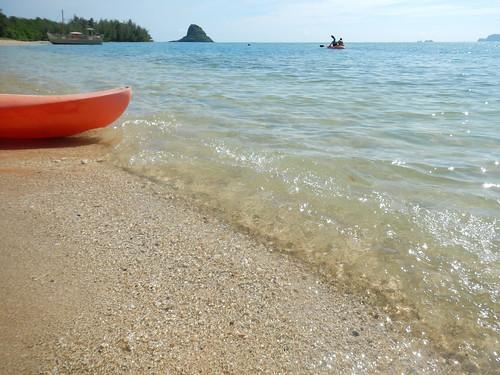 シークレットビーチの砂浜