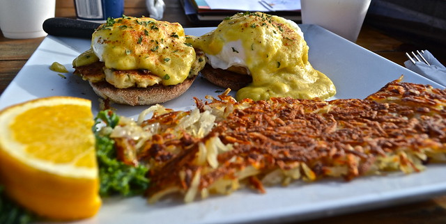 crab egg benedict breakfast