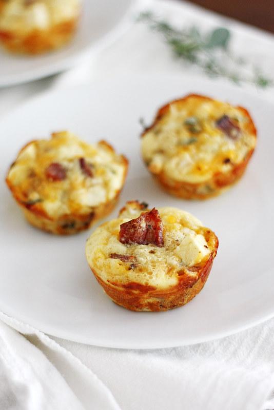 Apple-Bacon Cheddar Mini Breakfast Pies   girlversusdough.com @stephmwise