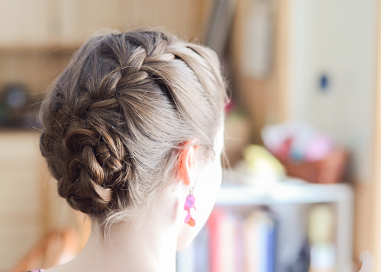 French Braided Updo | Photo by Reuben