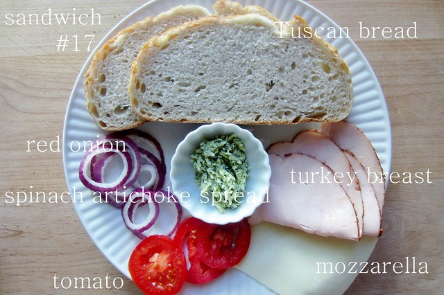 sandwich #17: turkey, spinach artichoke