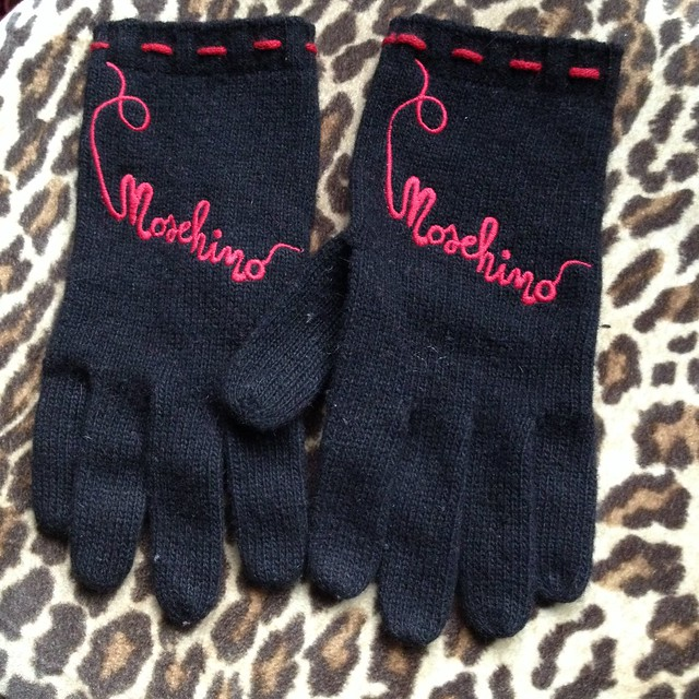 Moschino gloves from Poshmark