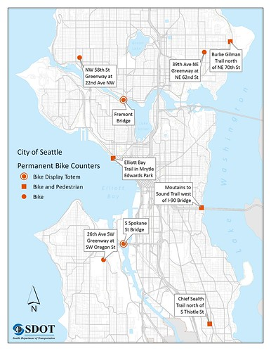 Seattle bike counter map