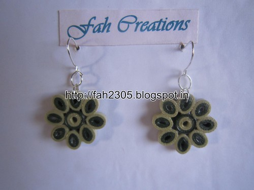 Handmade Jewelry - Paper Quilling Flower Earrings (1) by fah2305