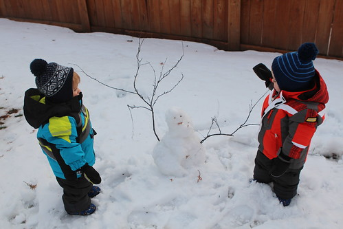 Bubses Building a Snowman
