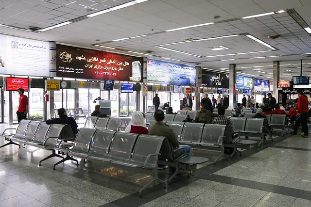Boading area of Mehrabad International Airport, Tehran テヘラン、メヘラバード空港