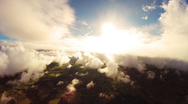 sky, cloud, sunny, gopro