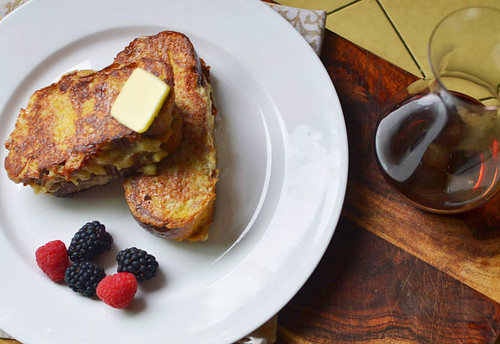 Banana Stuffed Challah French Toast via LittleFerraroKitchen.com