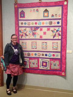 Rockin'Robin quilt along! It is on display at a show in Valdez, Alaska.