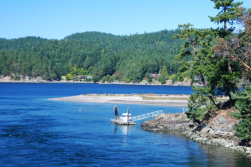 Mortimer Spit, Pender Islands, Gulf Islands, Georgia Strait, British Columbia, Canada