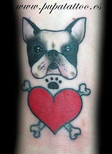 Tatuaje bullgod frances, Pupa Tattoo, Granada by Marzia PUPA Tattoo