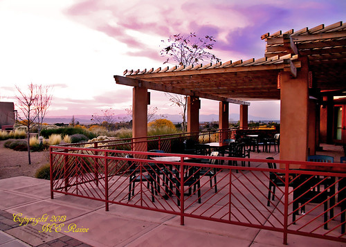 "plaza sunset mountains southwest art landscape cafe twilight desert terrace dusk dining museums eatery ""new ""santa ""golden mexico"" ""magic fe"" hour"""