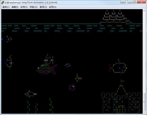 Raspberry Pi Ascii Game-水族箱