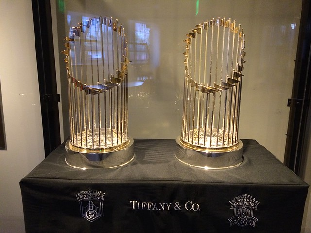 San Francisco Giants World Series trophies
