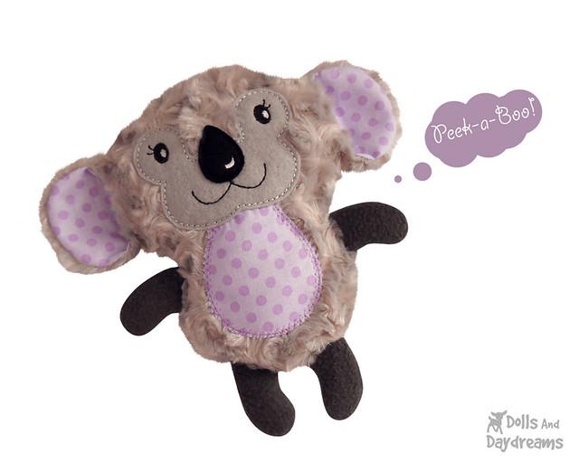 Koala bear in the hoop ith embroidery pattern