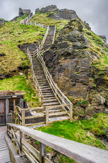 The Tintagel castle, Cornwall, United Kingdom