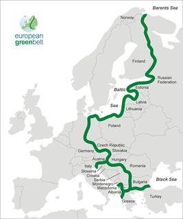 跨越24國的歐洲生態綠帶(European Green Belt)(圖片來源:維基百科)
