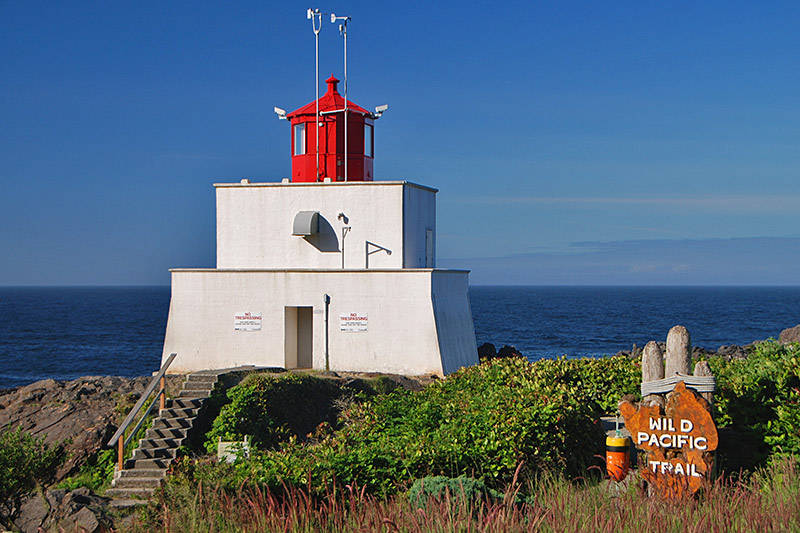 Amphitrite Point Lighthouse, Wild Pacific Trail, Ucluelet, Vancouver Island, British Columbia, Canada
