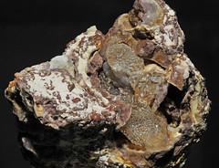 quartz var. opal-AN var. hyalite, goethite
