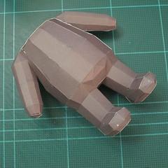 วิธีทำโมเดลกระดาษหมีบราวน์ชุดบอลโลก 2014 ทีมบราซิล (LINE Brown Bear in FIFA World Cup 2014 Brazil Jerseys Papercraft Model) 026
