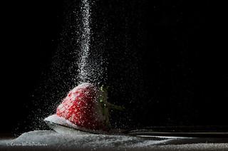 sugared strawberry