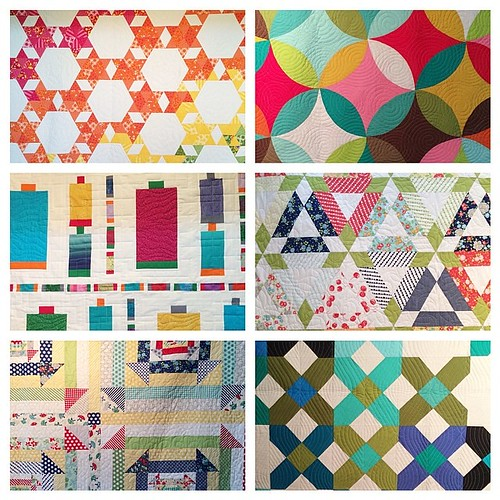 Just a few of the quilts at the show. @dimill did such a phenomenal job! #markettrends