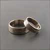 Custom White Gold Mountain Range Rings