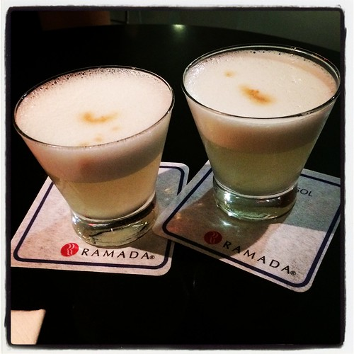 Pisco sours at the Lima Airport Ramada Hotel