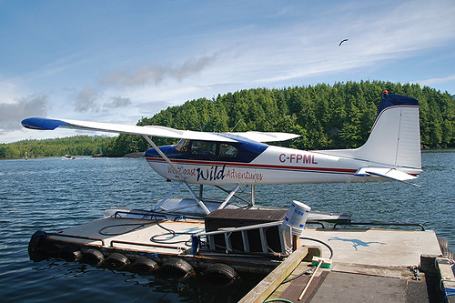 Floatplane in Ucluelet, West Coast Vancouver Island, British Columbia