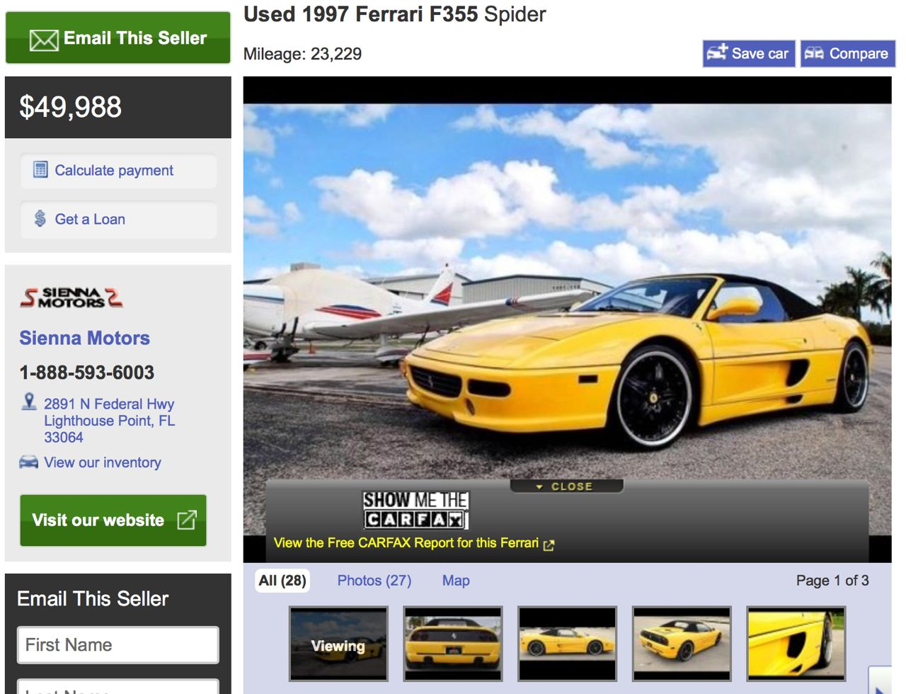 Ferrari F355 Spyder For Sale