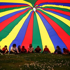 Parachute games at Camperdown Park #SchoolTrip #BalmulloLife
