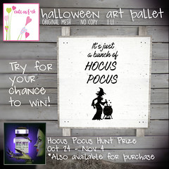 *NEW* HOCUS POCUS Halloween Art Pallet. Play to win or 50L!