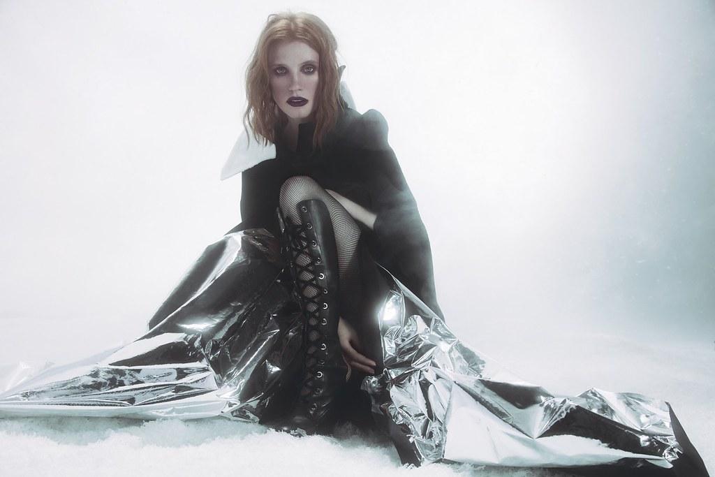 Джессика Честейн — Фотосессия для «Vogue» UA 2016 – 5