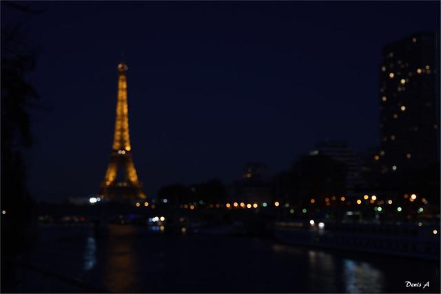 Evocation nocturne - Bord de Seine - Paris