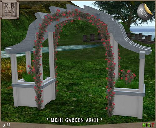 PROMO ! *RnB* Mesh Garden Arch - White (copy)