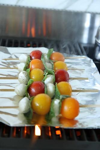 Grilled Caprese Kebabs