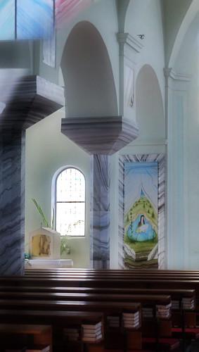 Anton Lehmden: Ausgestaltung Pfarrkirche Sopronkeresztúr / Kerestur / Deutschkreutz - Oberpullendorf, Burgenland - Blaufränkischland, Sonnenland