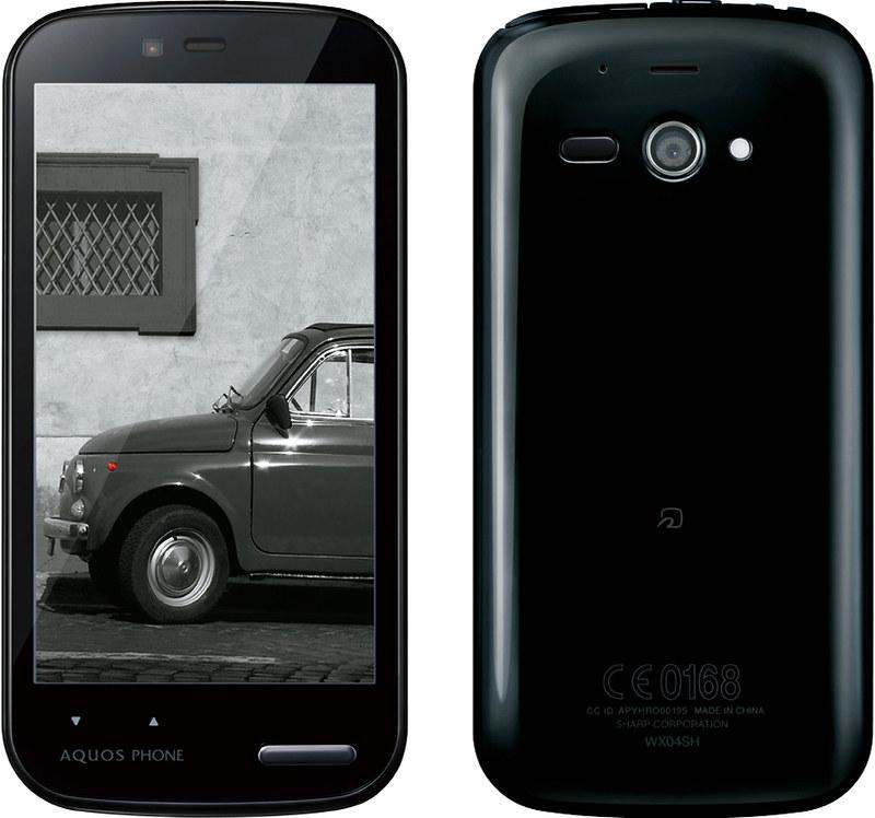 AQUOS PHONE es WX04SH 実物大の製品画像