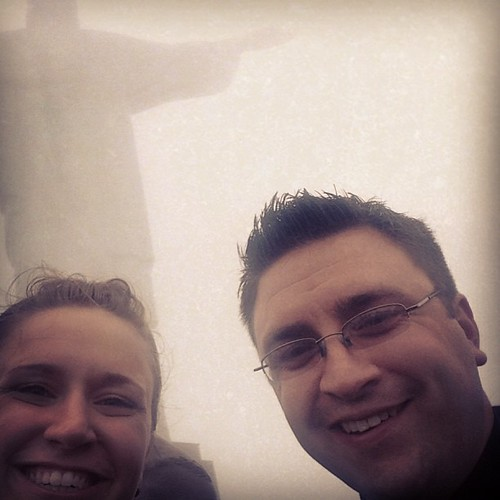 Alyssa and Fr. Eric at Christ the Redeemer