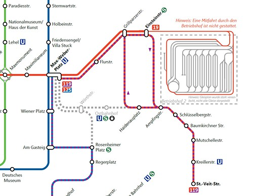 Netzplanausschnitt Bauarbeiten Max-Weber-Platz - St.-Veit-Straße